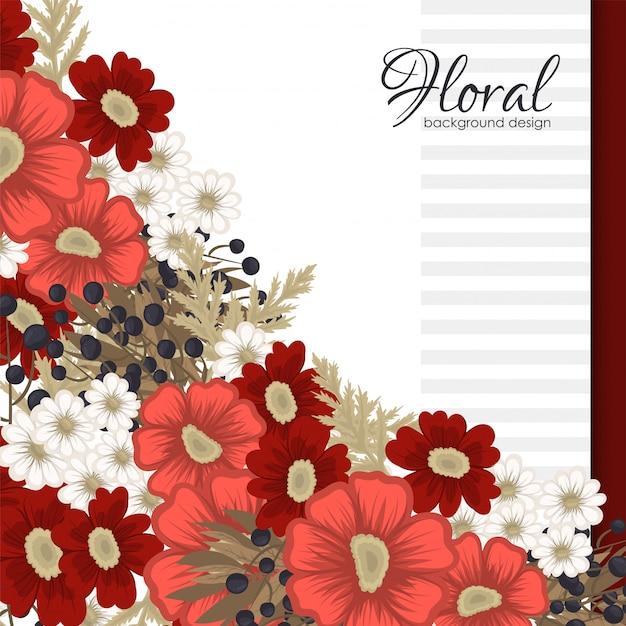 Czerwonego kwiatu czerwoni i biali kwiaty