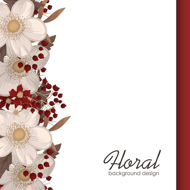 Czerwonego kwiatu tła czerwoni i biali kwiaty