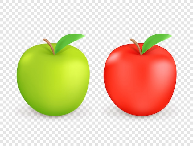 Czerwoni i zieleni jabłka odizolowywający