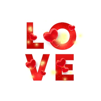 Czerwoni listy miłosne z 3d wystrojem odizolowywającym. ilustracja do strony internetowej, kuponów, materiałów promocyjnych.