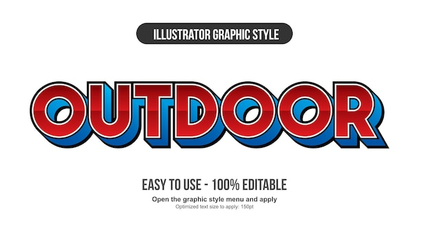 Czerwono-niebieska sportowa futurystyczna typografia 3d