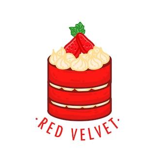 Czerwony aksamitny deser ciasto