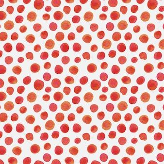 Czerwony akwarela dotty wzór