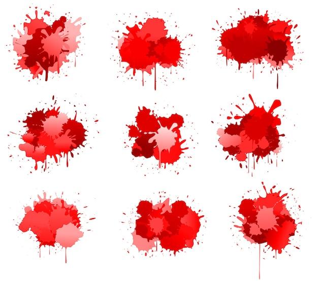 Czerwony atrament lub plamki krwi