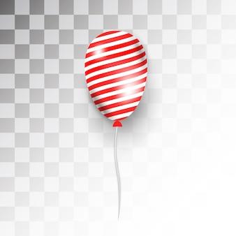 Czerwony balon z białą linią