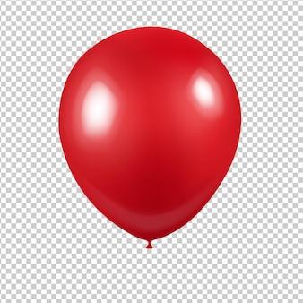 Czerwony balonik z przezroczystym tłem z siatki gradientu, ilustracji wektorowych