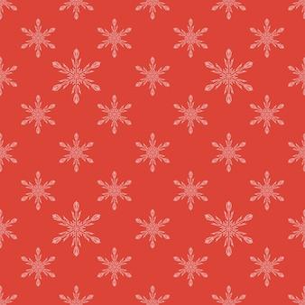 Czerwony bezszwowy płatka śniegu wzór