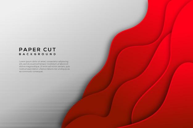 Czerwony biały papier wyciąć streszczenie tło