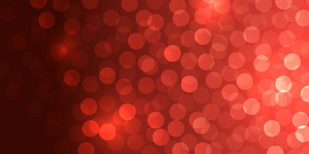 Czerwony bokeh