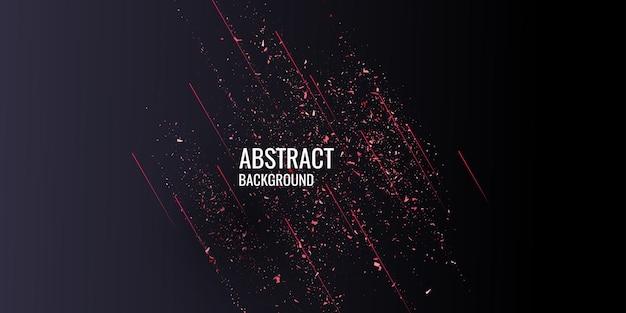 Czerwony brokat. błyszczące cząsteczki na ciemnym tle. ilustracja wektorowa