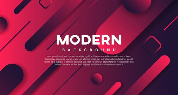 Czerwony ciemny gradient geometryczny nowoczesny projekt tła