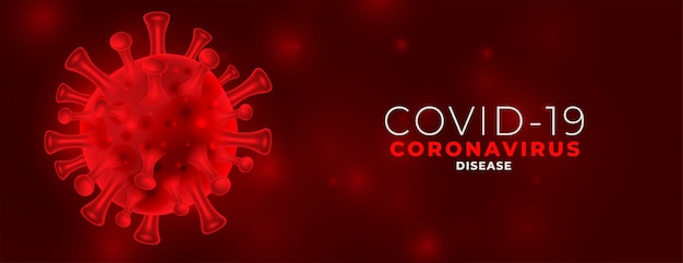 Czerwony covid19 koronawirus niebezpieczny projekt transparentu rozprzestrzeniania