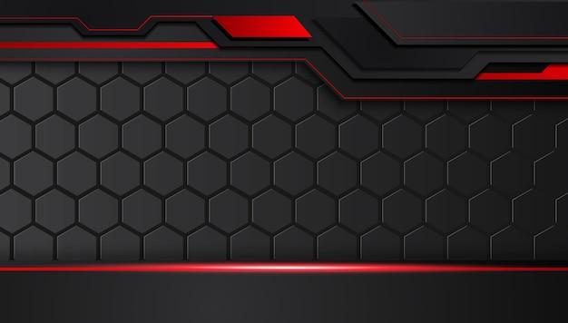 Czerwony czarny abstrakcjonistyczny kruszcowy ramowy układu projekta techniki innowaci pojęcia tło