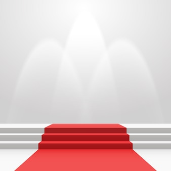 Czerwony dywan na schodach