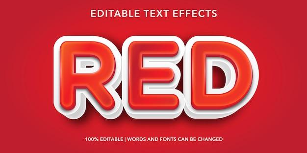 Czerwony edytowalny efekt tekstowy