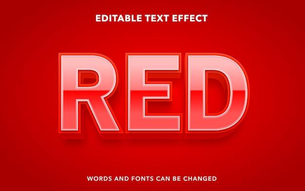 Czerwony edytowalny styl efektu tekstu