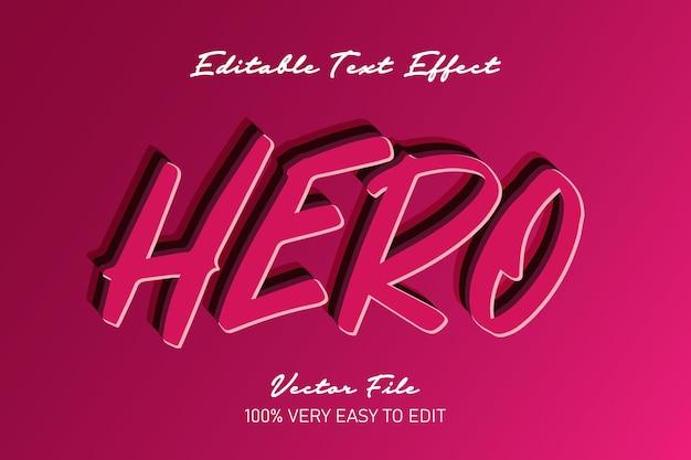 Czerwony efekt tekstowy bohatera
