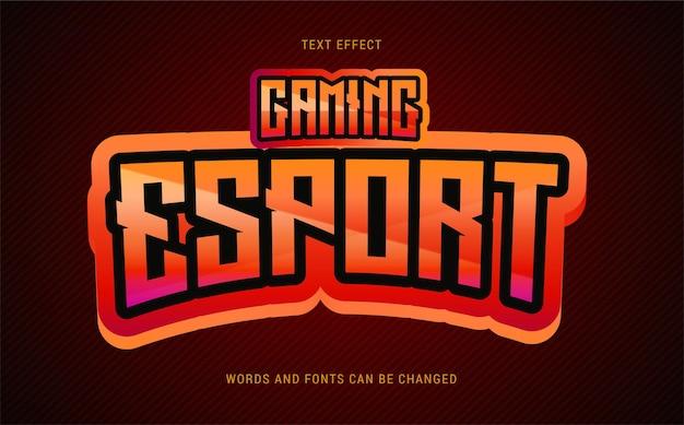 Czerwony efekt tekstowy w grach e-sportowych edytowalny eps cc