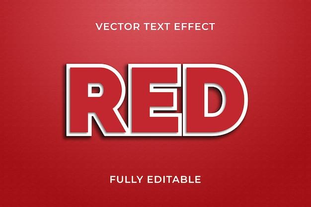 Czerwony efekt tekstu