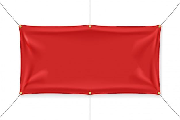 Czerwony fabri z zakładkami