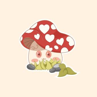 Czerwony grzyb