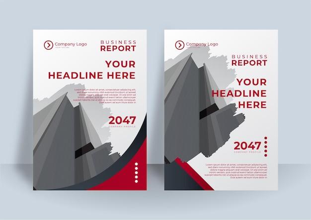 Czerwony i biały okładka tożsamości korporacyjnej biznes wektor projekt, ulotki broszury reklamowe streszczenie tło, szablon układu ulotki nowoczesny plakat magazyn, roczny raport do prezentacji
