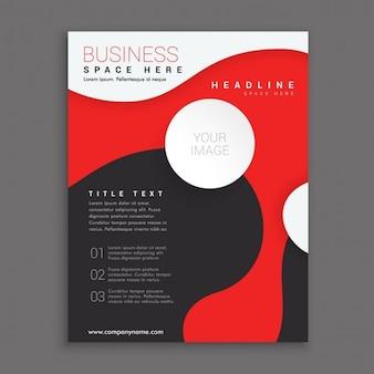 Czerwony i czarny biznes broszura korporacyjna