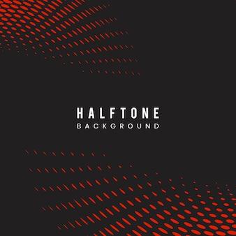Czerwony i czarny falisty halftone tła wektor