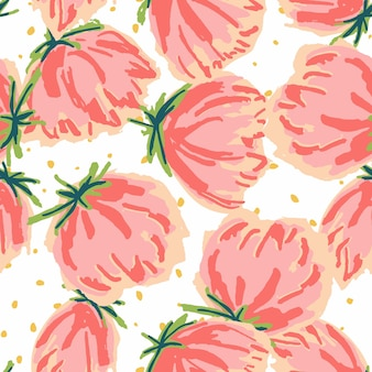 Czerwony i niebieski tulipan filcowe pióro wektor wzór. piwonia papieru ogrodowego tekstury. różowa tapeta do rysowania światła. dekoracyjny tło lotosu.
