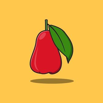 Czerwony i pyszny projekt ilustracji owoców róży jabłoni