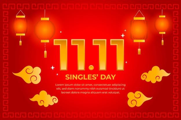 Czerwony i złoty styl dnia singli