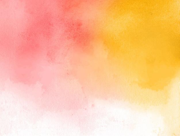 Czerwony i żółty akwarela streszczenie tło