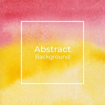 Czerwony i żółty akwareli tekstury abstrakta tło
