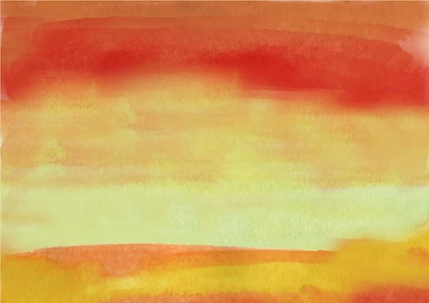 Czerwony i żółty atrament streszczenie przepływ akwarela tekstury tło