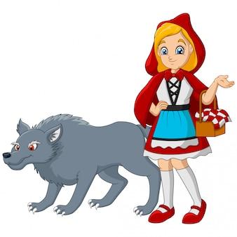 Czerwony kapturek z wilkiem
