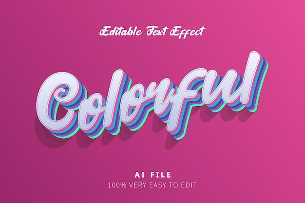 Czerwony kolorowy efekt stylu tekstu