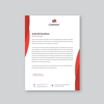Czerwony kolorowy projekt głowy list