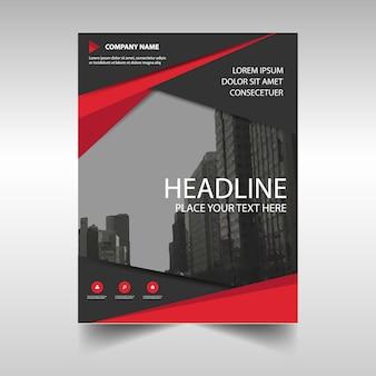 Czerwony kreatywny raport roczny szablonu książki