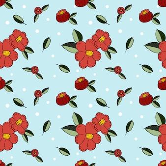 Czerwony kwiat wzór tła. motyw motywu wiosennego.