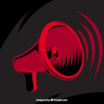 Czerwony megafon