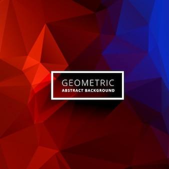 Czerwony niebieski geometryczne trójkątne tle