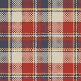Czerwony niebieski kratę tkanina tekstura wzór