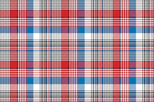 Czerwony niebieski tkanina tekstura wyboru kratki wzór