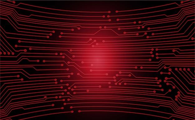 Czerwony obwód cyber przyszłości koncepcja tło technologii