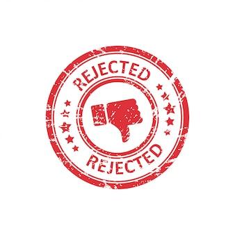 Czerwony odrzucony znaczek z grunge w mieszkaniu