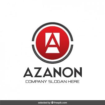Czerwony okrągły logo