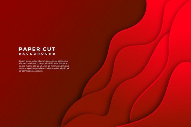Czerwony papier wyciąć streszczenie tło