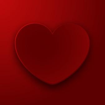 Czerwony papierowy serce, szczęśliwa walentynka dnia wektoru ilustracja