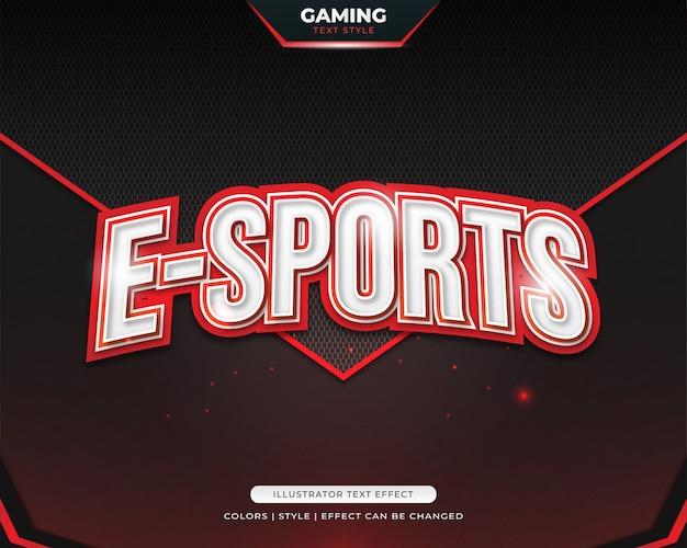 Czerwony pogrubiony styl tekstu dla zespołu e-sport