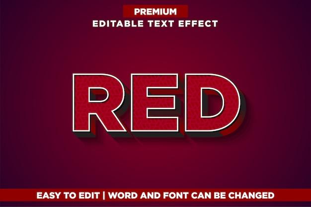 Czerwony, premium edytowalny styl czcionki z efektem tekstowym